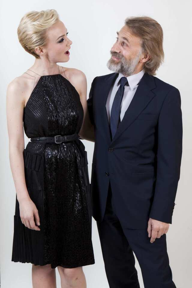 """The award season is officially underway thanks to a star-studded kickoff party hosted by Starz. The Los Angeles Times was on the scene to shoot this year's Hollywood Film Awards honorees backstage, including Supporting Actress Award winner Carey Mulligan (""""Drive"""" and """"Shame"""") and presenter Christoph Waltz."""