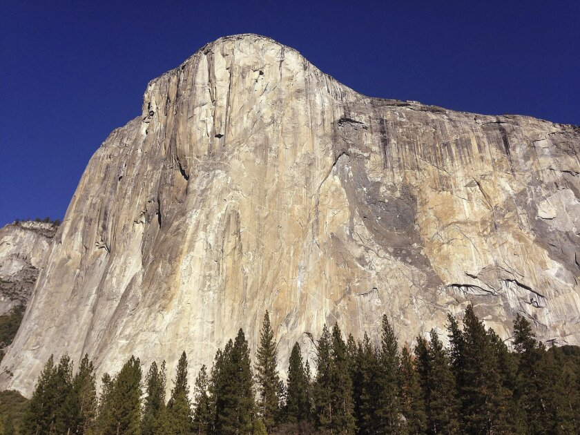 "El Capitan in Yosemite National Park. Or is it ""Yosemite National Park, brought to you by Delaware North""?"