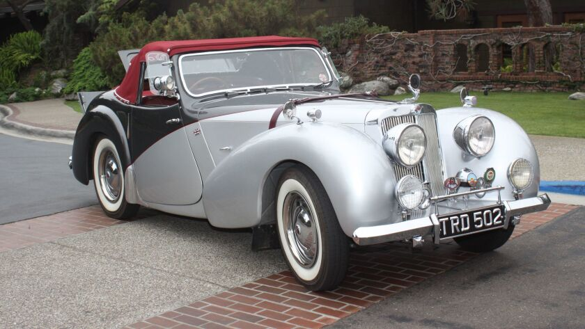 Trudy (so named for the TRD in the license plate), a 1947 Triumph 1800 Roadster.