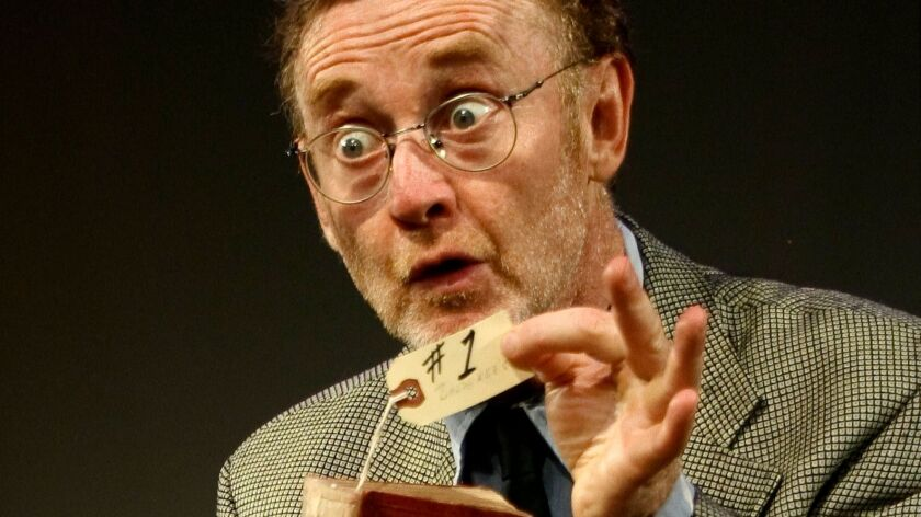 Patrick O'Brien as The Librarian in the play titled Underneath the Lintel by Glen Berger.