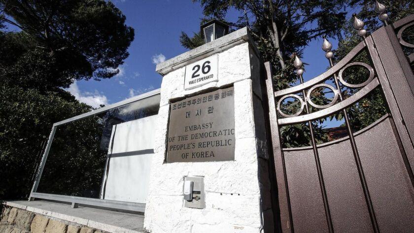 North Korean diplomat in Italy in hiding - reports, Rome - 03 Jan 2019