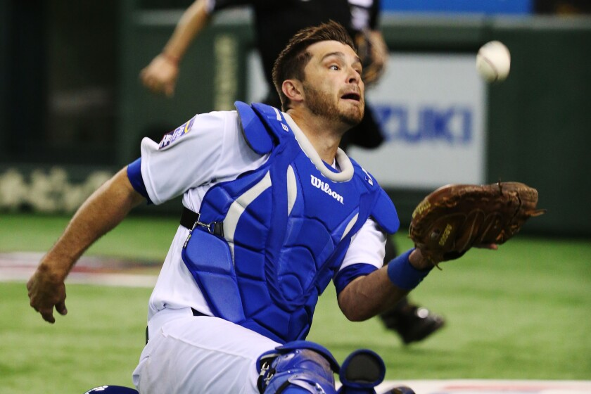 The Dodgers designated catcher Drew Butera for assignment Friday.