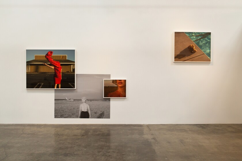 Installation view of Tania Franco Klein's show at Rose Gallery.