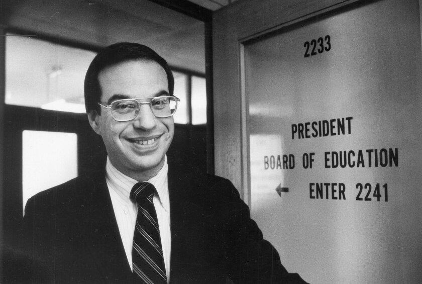 Filner on the school board in 1983.