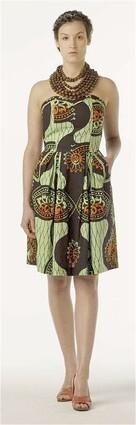 Femi dress, $298, from an Ivory Coast print.