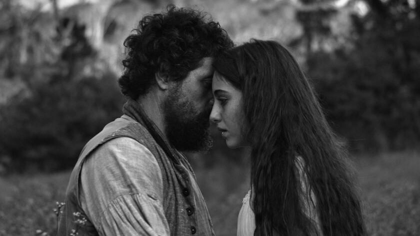 "Adriano Carvalho and Luana Nastas in the movie ""Vazante."""