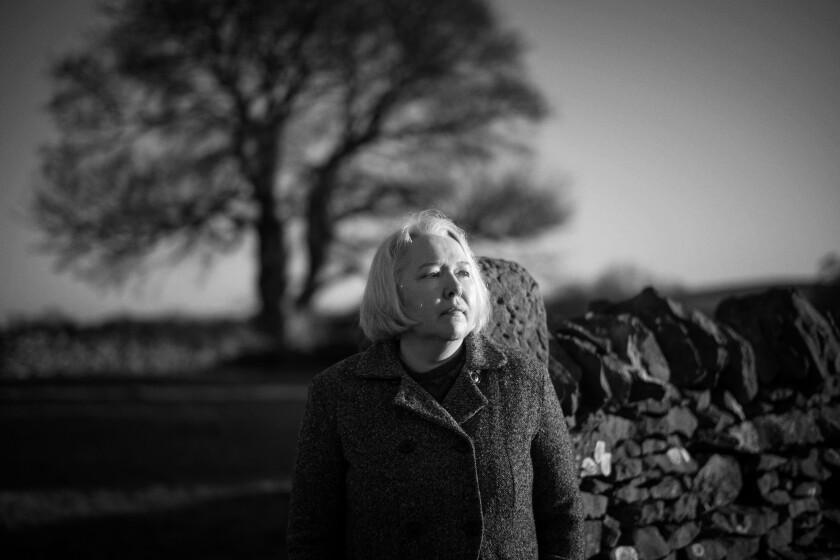 "Bloomsbury novelist Susanna Clarke at her home in the Peak district. Her latest book is ""Piranesi."""