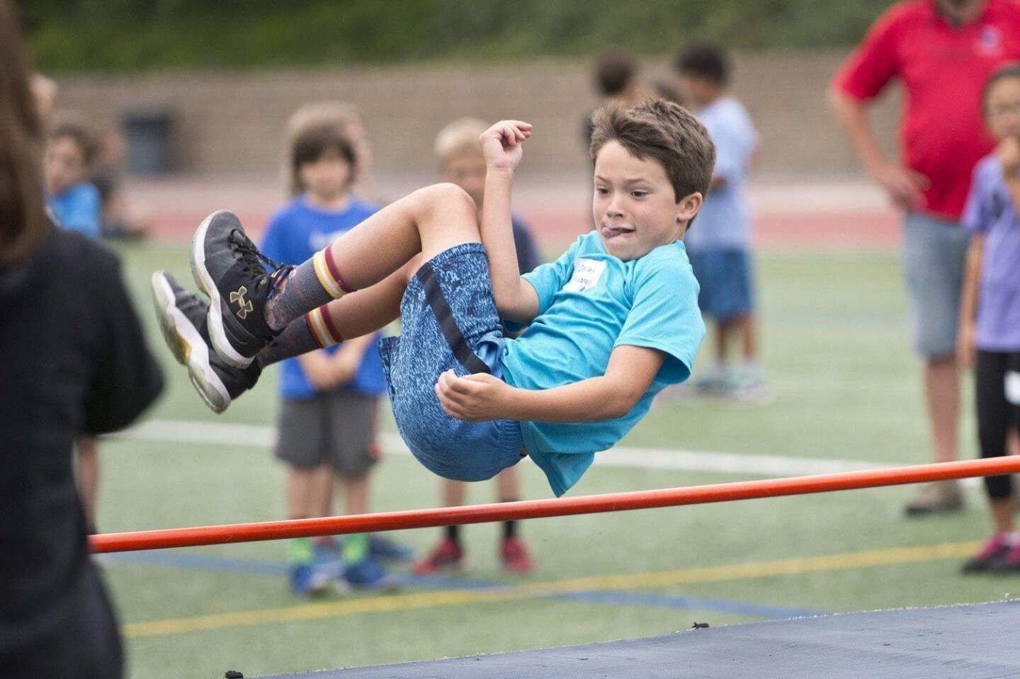 High jump at Field Day