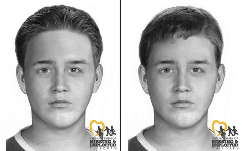 New sketches show what an unidentified male whose remains were found in 1996 might have looked like when he died.