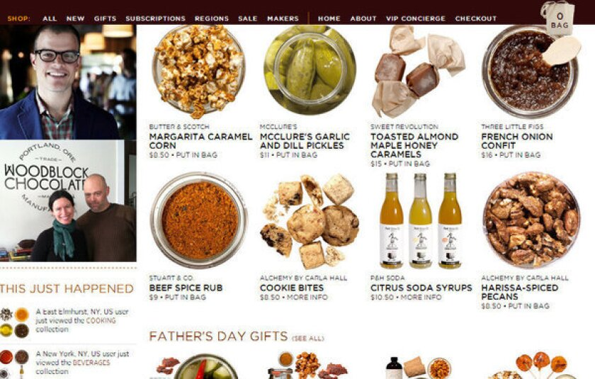 Mouth.com's online store now includes Southern California food producers.