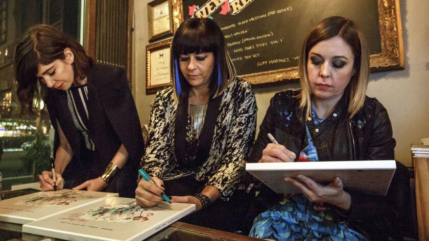 LOS ANGELES - CA - JANUARY 20, 2015 - Sleater-Kinney band members Carrie Brownstein, Lt, Janet Weiss