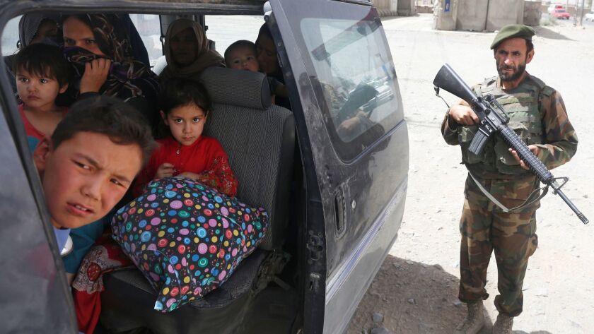 Civilians escaped from Ghazni arrive in Kabul, Afghanistan - 13 Aug 2018
