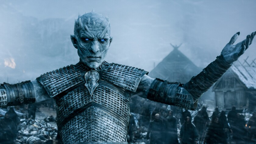 """A White Walker in a scene from HBO's """"Game Of Thrones."""" Credit: HBO"""