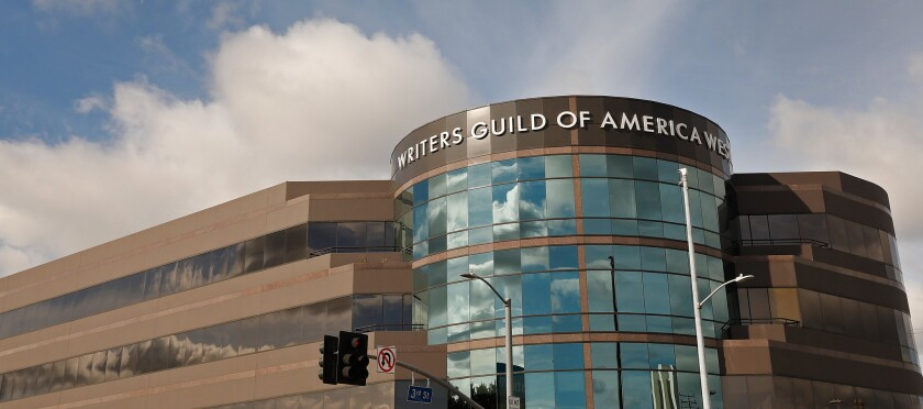 The Writers Guild of America West headquarters in Los Angeles.