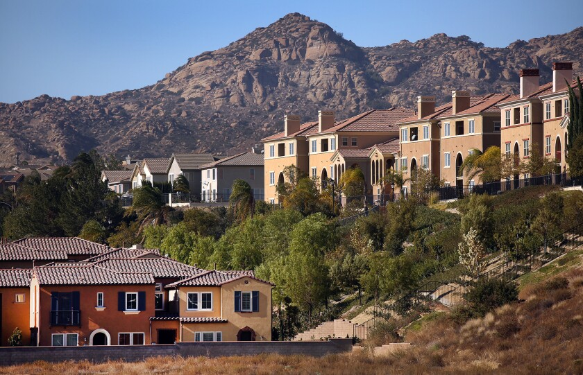 Gated neighborhoods along Porter Ranch Drive just south of the Southern California Gas Co. storage facility in Aliso Canyon.