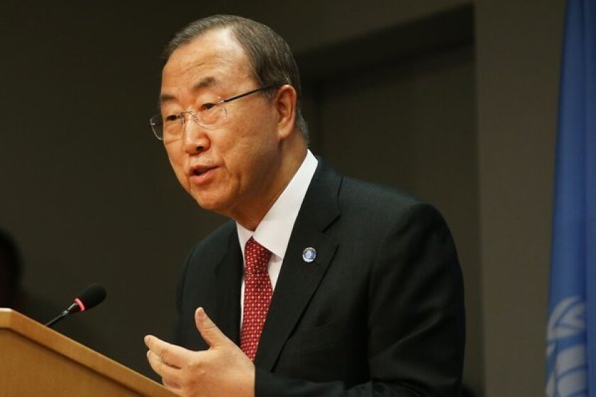 U.N. Secretary-General Ban Ki-moon warned at a news conference Tuesday that any punitive action against Syria for its alleged chemical weapons use would be illegal unless it was done in self-defense or authorized by the U.N. Security Council.