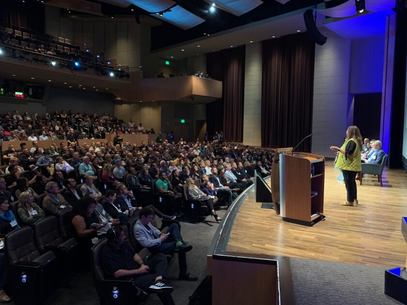 Quick Pitch attracted 600 registrants, packing the house at Qualcomm Hall.
