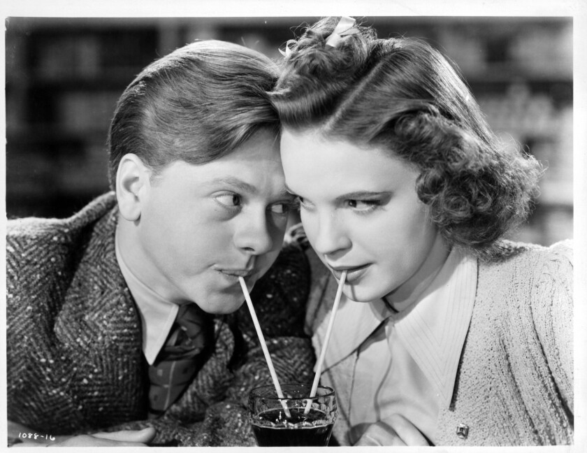 Mickey Rooney And Judy Garland In 'Girl Crazy'