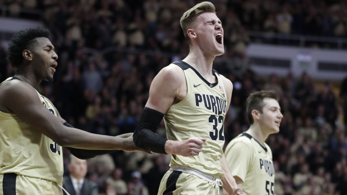 College basketball: Unranked Purdue upsets No  6 Michigan State