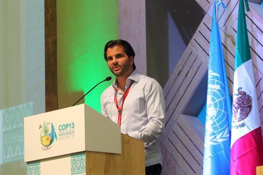 El secretario de Medio Ambiente y Recursos Naturales de México Rafael Pacchiano durante una conferencia de prensa. EFE/Archivo