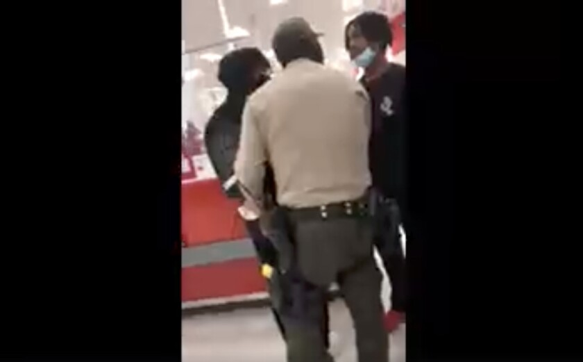 Still from a video of teens being detained