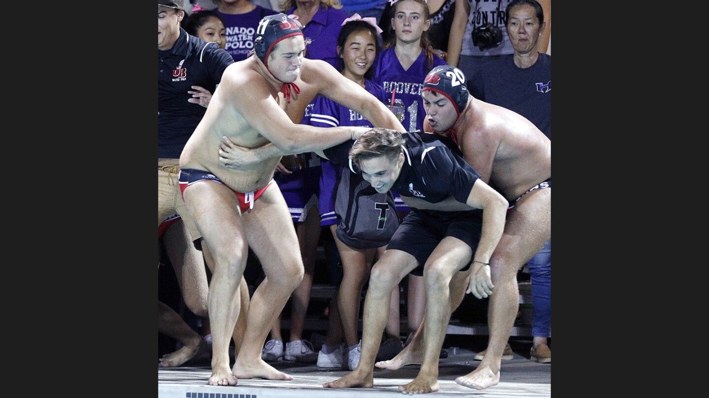 Photo Gallery: Burroughs wins Pacific League boys' water polo final over Hoover