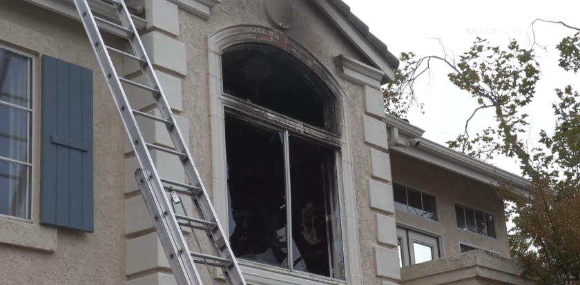 Exploding batteries sparked a fire at a Carmel Mountain condo on Monday afternoon that caused $175,000 in damage.