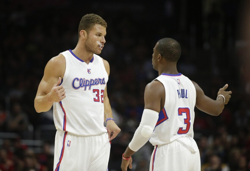 promo code f9c06 39b6b Clippers' Chris Paul joins Blake Griffin on All-Star team ...