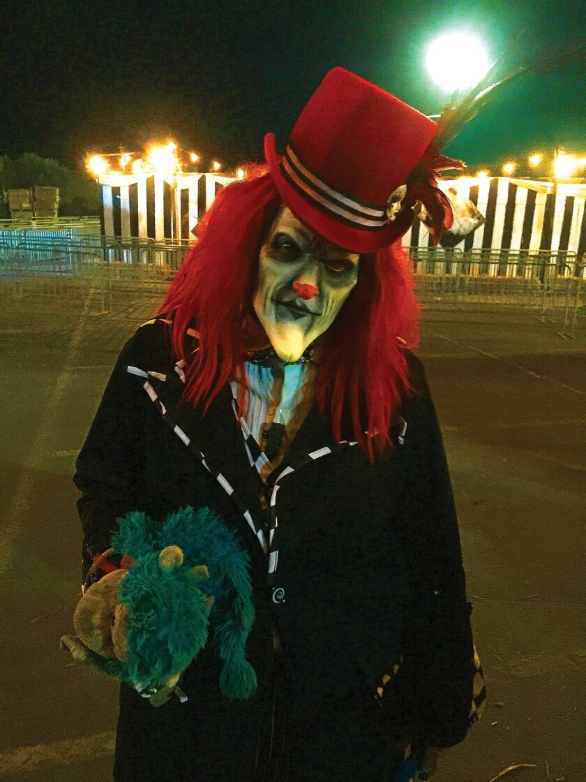 An evil carnival-themed maze is among The Scream Zone attractions at Del Mar Fairgrounds.