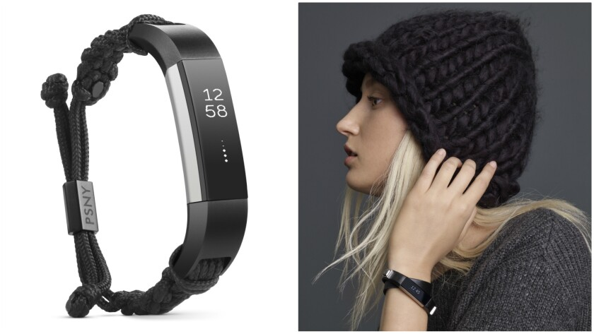Fitbit's stylish offerings include designer collaborations with Public School (left) and Simply Vera Vera Wang (right).