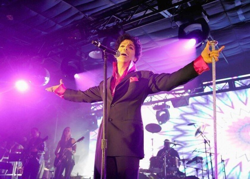 Prince performs at SXSW on March 16, 2013, in Austin, Texas.