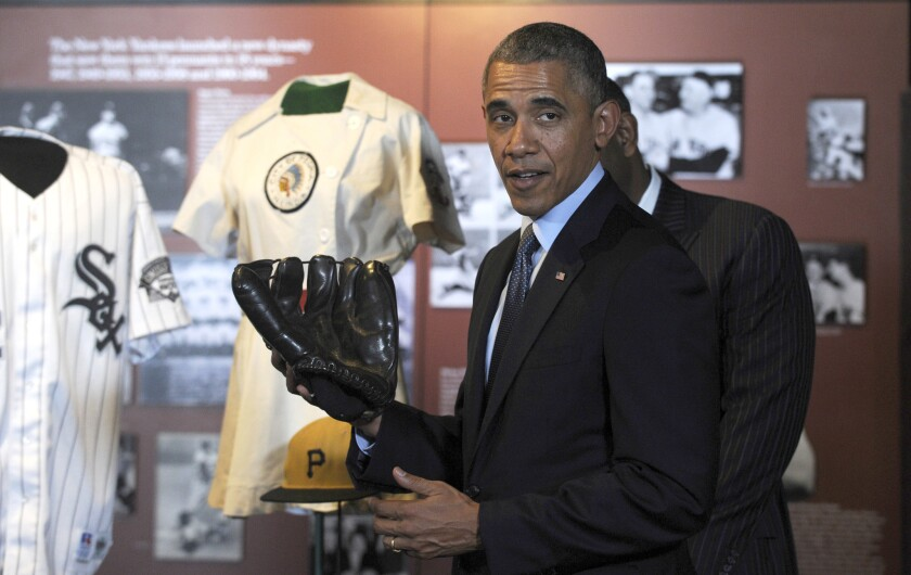 President Obama at Baseball Hall of Fame