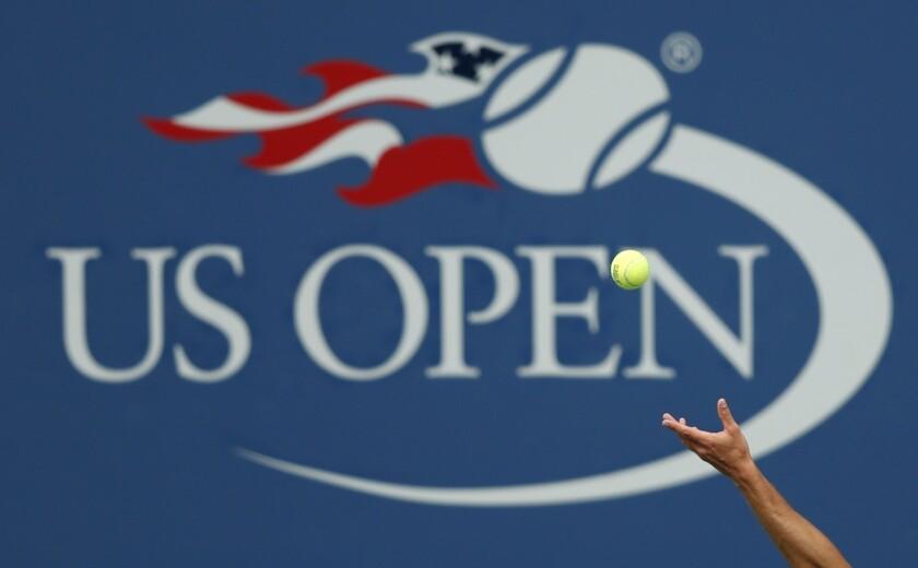 Philipp Kohlschreiber serves to John Millman in the third round of the 2017 U.S. Open.