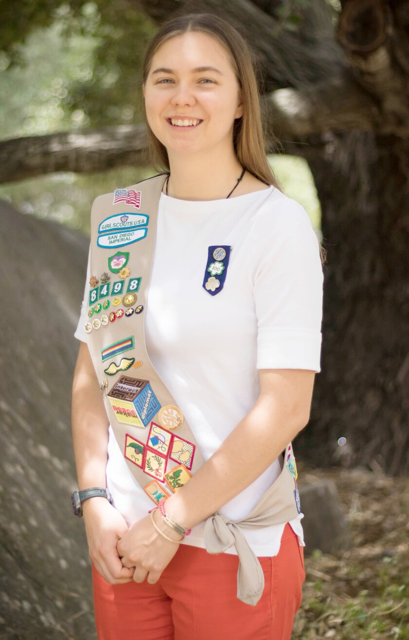 Helen Buchanan focused her Girl Scouts Gold Award project on teaching students about the need to protect bees.