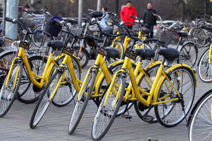 Ofo Bicycle, a unique Chinese bike-sharing service that does not require a docking station, is helping fuel a bicycle renaissance.
