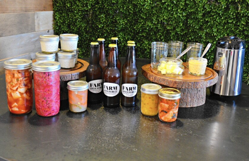 Farm and Culture in Costa Mesa will serve fresh broth and fermented products, like kombucha, raw yogurt and kimchi, when it opens Oct. 17.