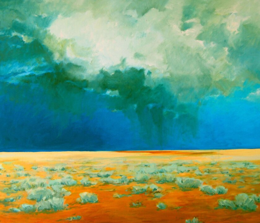 """Carol Lindemulder: """"Afternoon Monsoon."""" Lindemulder is one of the featured artists in """"Nature Improvised."""""""