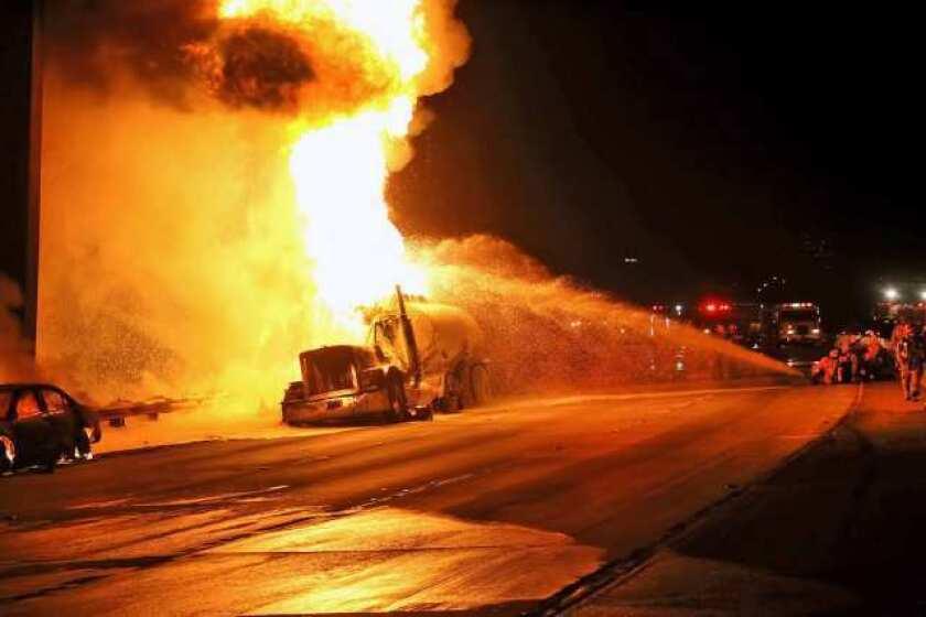 Crash on the 134 Freeway