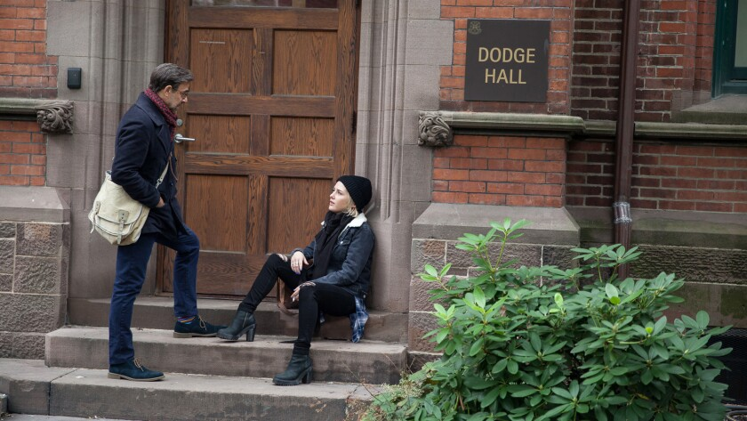 """(L-R) - Stanley Tucci and Addison Timlin in a scene from """"Submission."""" Credit: Great Point Media/Pa"""