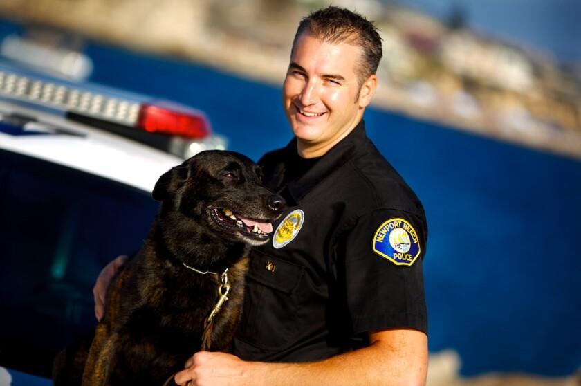 Officer says sad goodbye to canine partner