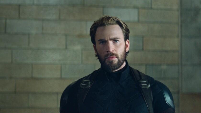 """Captain America/Steve Rogers (Chris Evans) in a scene from """"Marvel Studios' """"AVENGERS: INFINITY WAR"""