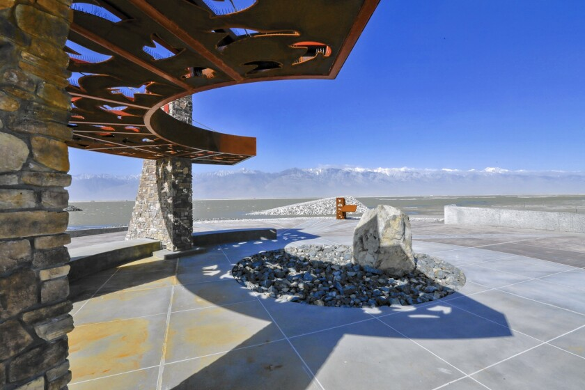 The L.A. Department of Water and Power's Owens Lake Trails project is intended as a $4.6-million olive branch from Los Angeles to the people of Owens Valley, where animosities have simmered since the city's aqueduct, completed in 1913, drained the lake.