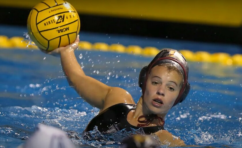 Bishop's School junior Maggie Johnson competes in water polo, field hockey, softball and swimming.