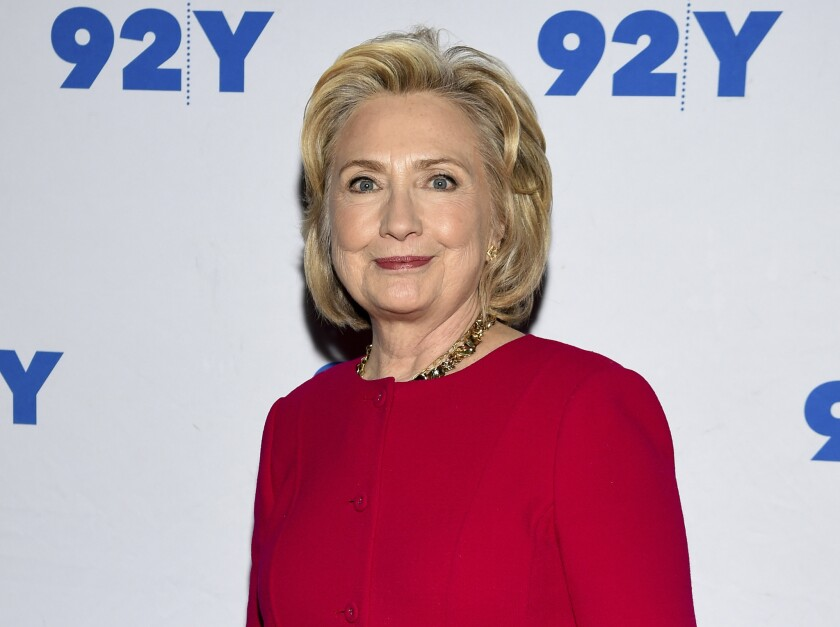 Hillary Clinton discussed President Trump, the recent bomb scare and Russian involvement in the 2016 presidential election at 92Y in Manhattan on Friday.