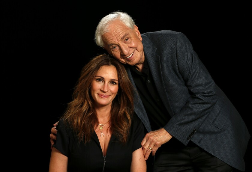 Garry Marshall, who died Tuesday at 81, and Julia Roberts sat together for an interview in April.