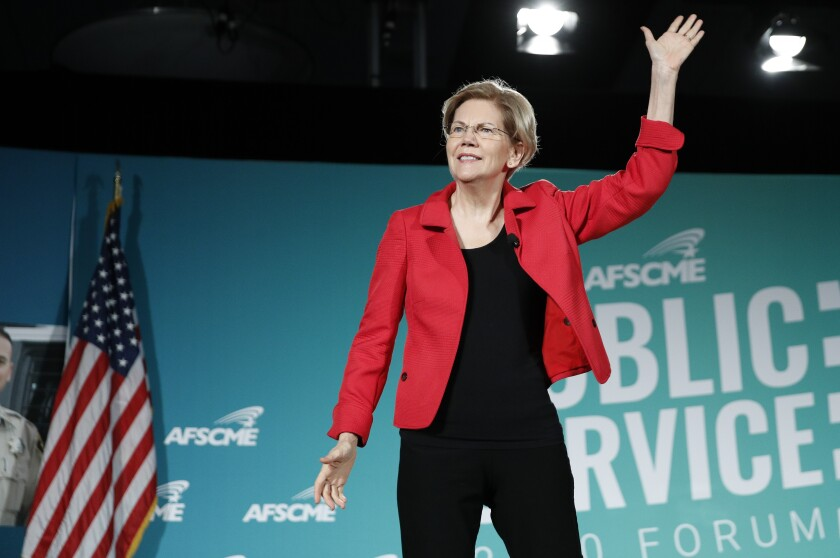 Sen. Elizabeth Warren (D-Mass.), who unveiled a Social Security reform plan Thursday.