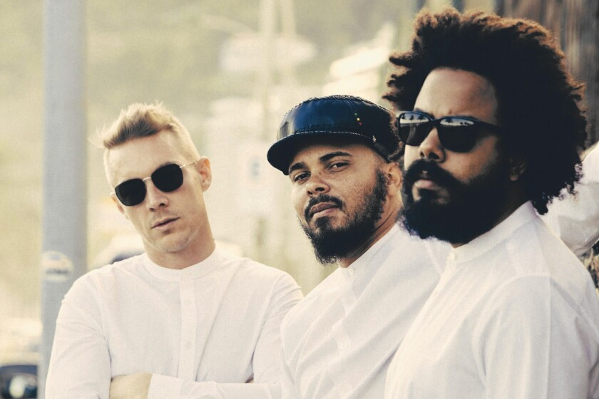 Major Lazer: Diplo, from left, Walshy Fire and Jillionaire.