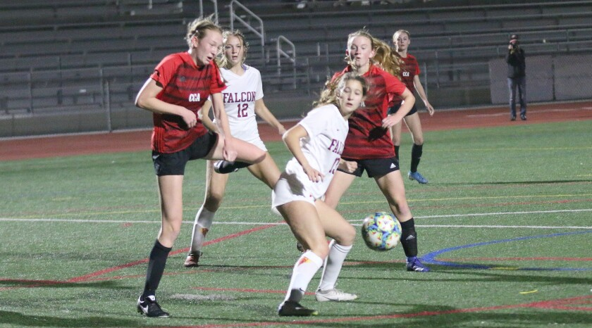 The CCA and Torrey Pines girls played to a scoreless draw.