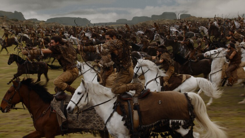 "The Dothraki army from the ""Game of Thrones"" episode ""The Spoils of War."""