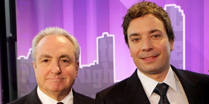Lorne Michaels; left, is still being considered for the Oscars telecast but talks have stalled with Jimmy Fallon, sources say.